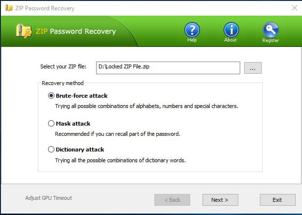 5. Top Password - ZIP Password Recovery
