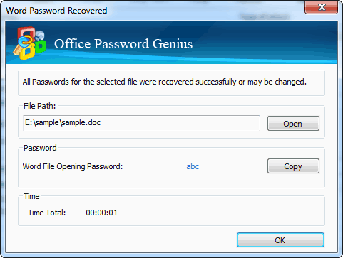 Office Password Recovered