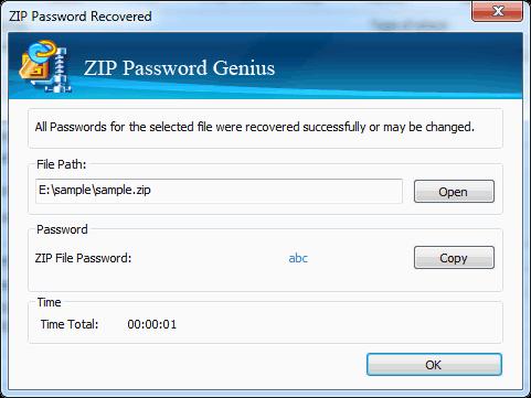 recover zip password