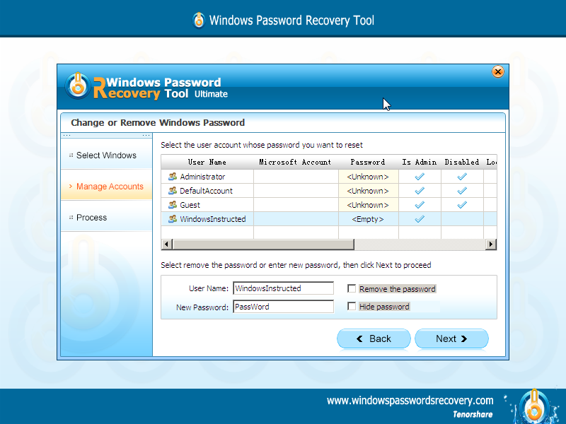 Choose Windows Account