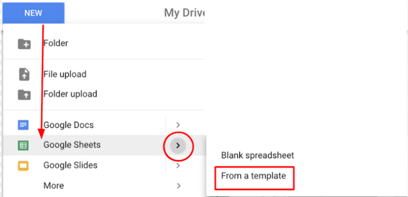 Create a new Google sheet to unprotect Excel sheet