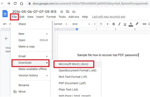 download as word file