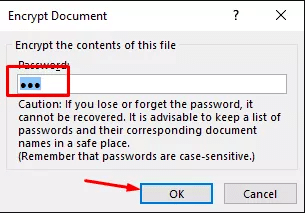 encrypt Excel file with password