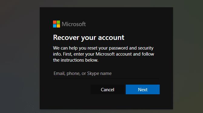 crack Windows 10 password with Microsoft account