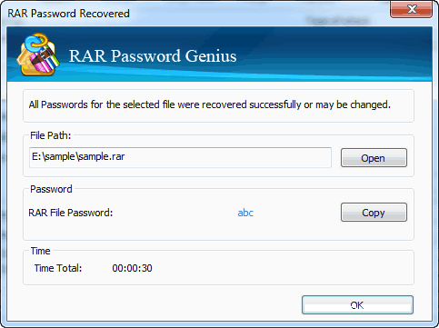 Rar Password Recovered
