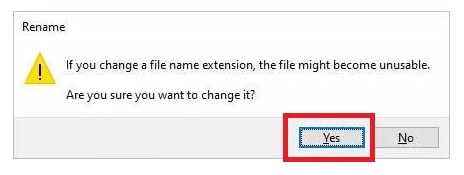 rename the excel file to recover password