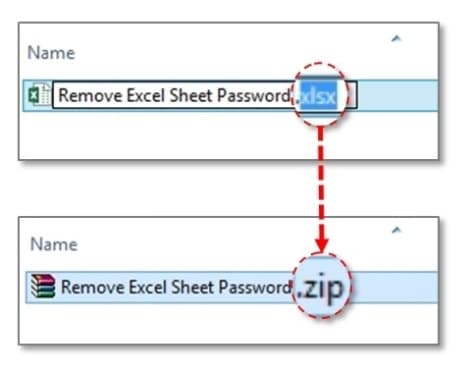 Unlock Excel file with ZIP