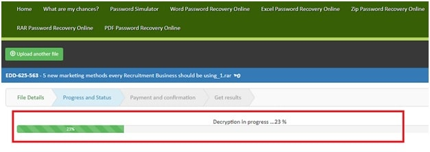 recover the forgotten WinRAR password