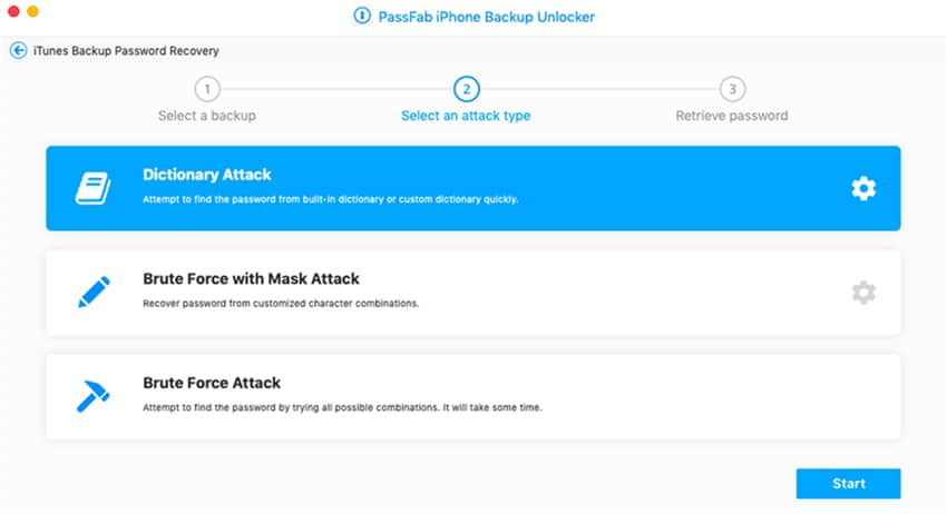 recover encrypted itunes backup password using dictionary attack