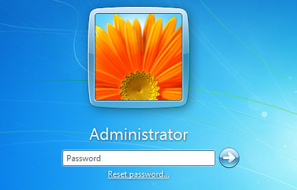 reset password link in windows 7