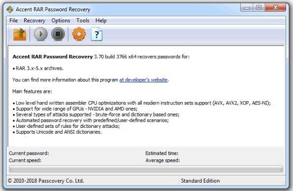 best accent rar password recovery