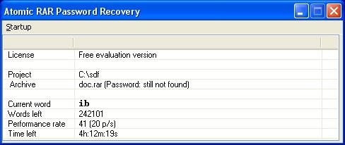 best atomic rar password recovery