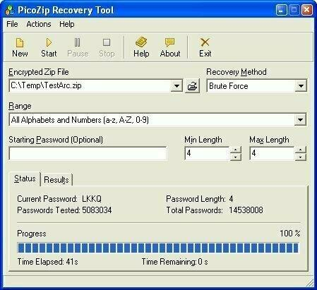 best picozip recovery tool