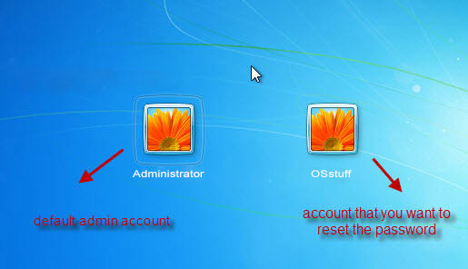 default administrator account in windows 7