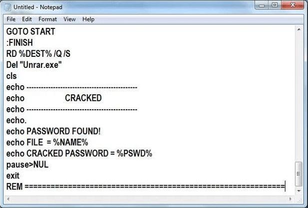 Unlock RAR password using CMD