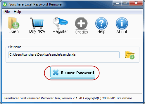 best isunshare excel password remover