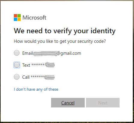 Verify your identity to reset Windows 8 password without a disk