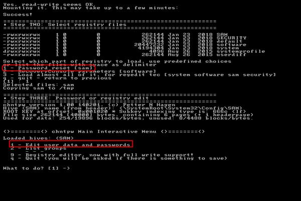 offline edit user data and passwords