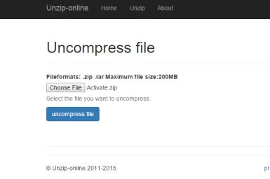 unzip zip file online