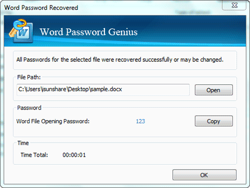 word password genius recovered password