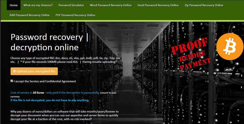 recover forgotten Excel password online