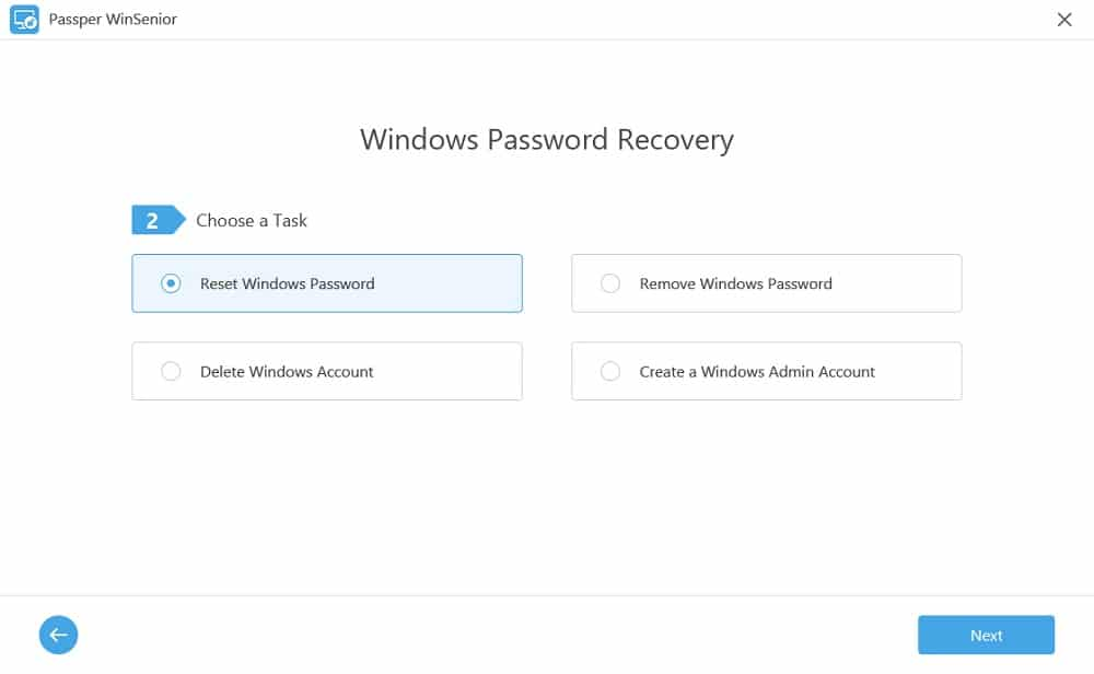 Passper WinSenior - Offline NT Password alternative