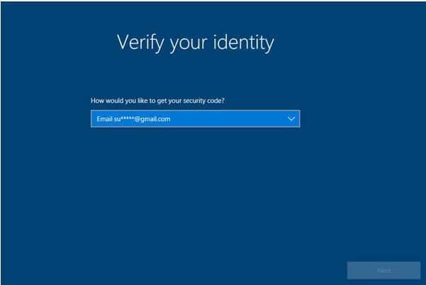 verify identity of microsoft account