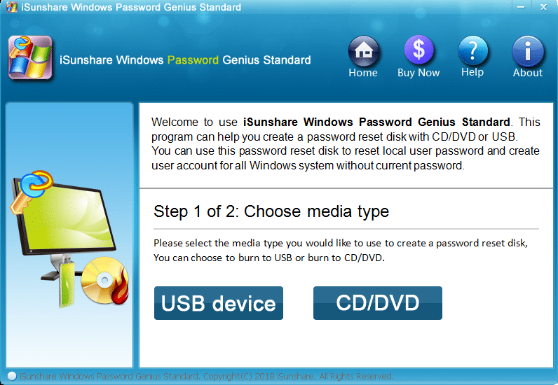 iSunshare Windows Password Genius - the most powerful Windows password recovery tool