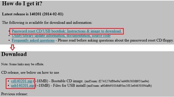 Download Offline Windows Password & Registry Editor