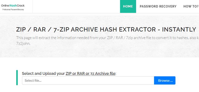 hack crack zip file password online