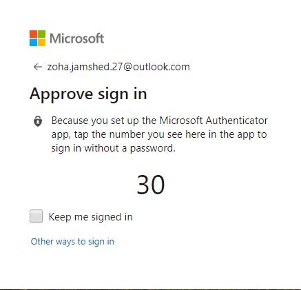 Reset Microsoft account with Microsoft Authenticator app