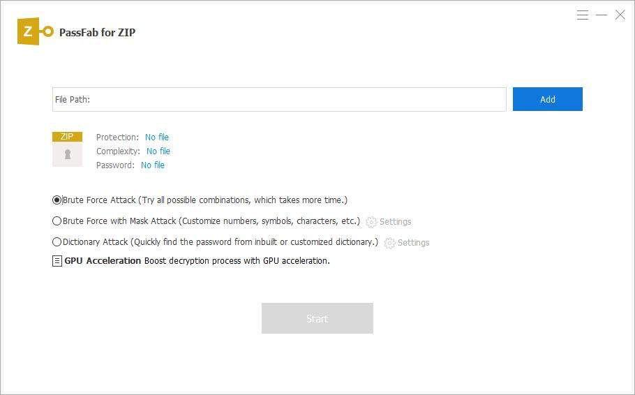 Unlock ZIP files with PassFab for ZIP