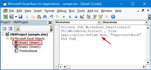 Copy and paste the code into the VBA window to unprotect Excel workbook