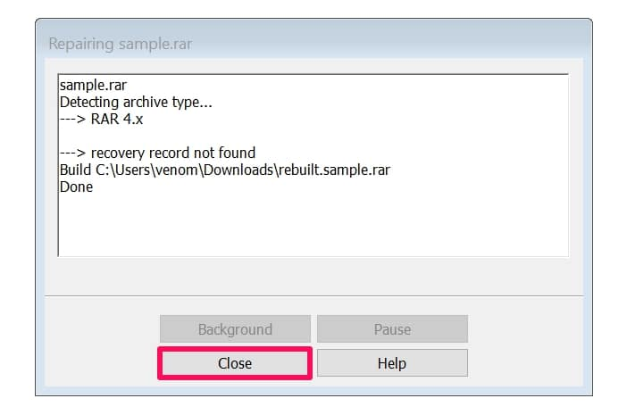 How to Repair Corrupted RAR/WinRAR Archive