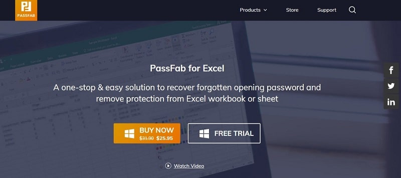 Unprotect Excel wordbook with PassFab for Excel