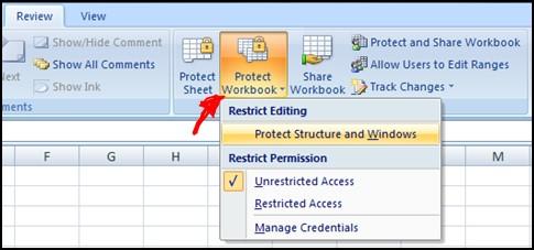 Unprotecting workbook with password – method 2