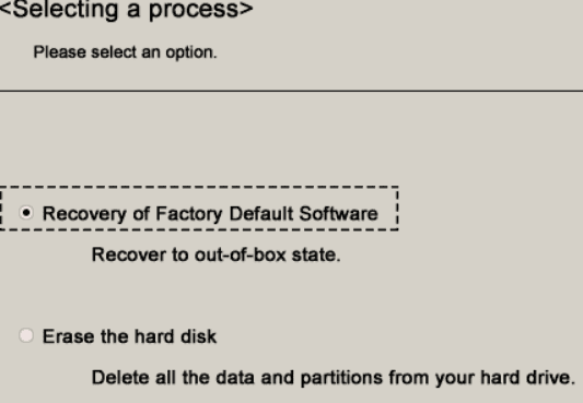 Recovery of Factory Default Software in Toshiba laptop using Recovery disk