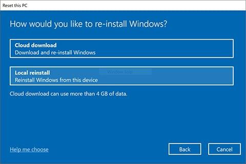 re-install windows in HP laptop