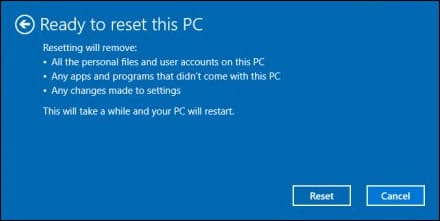 factory reset Asus laptop without password