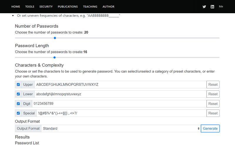 TECHZOOM Password Generator