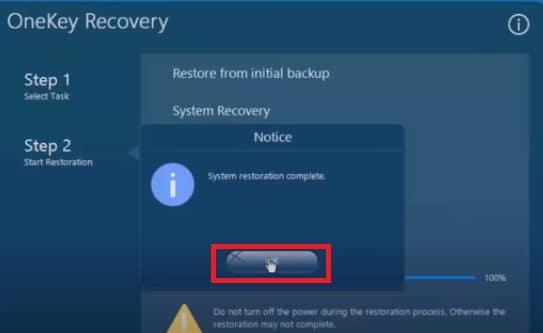 complete system restoration on Lenovo laptop