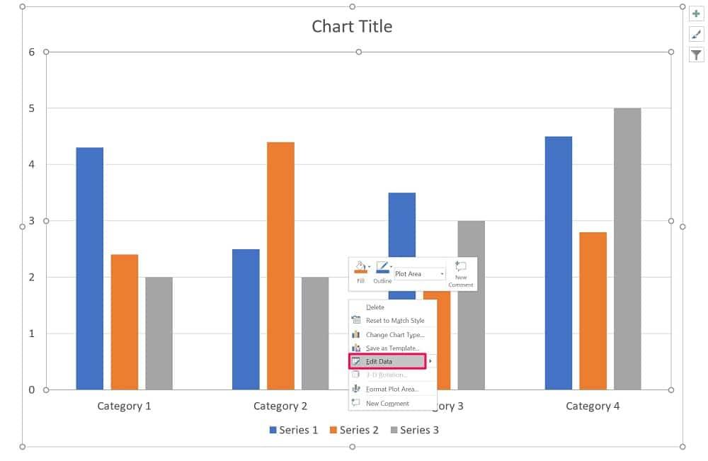 Edit chart in PowerPoint