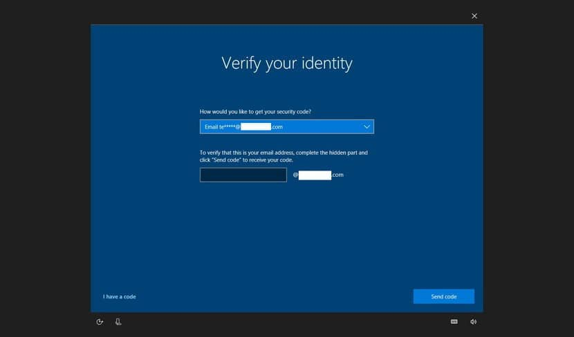 windows reset password email verification on Dell laptop