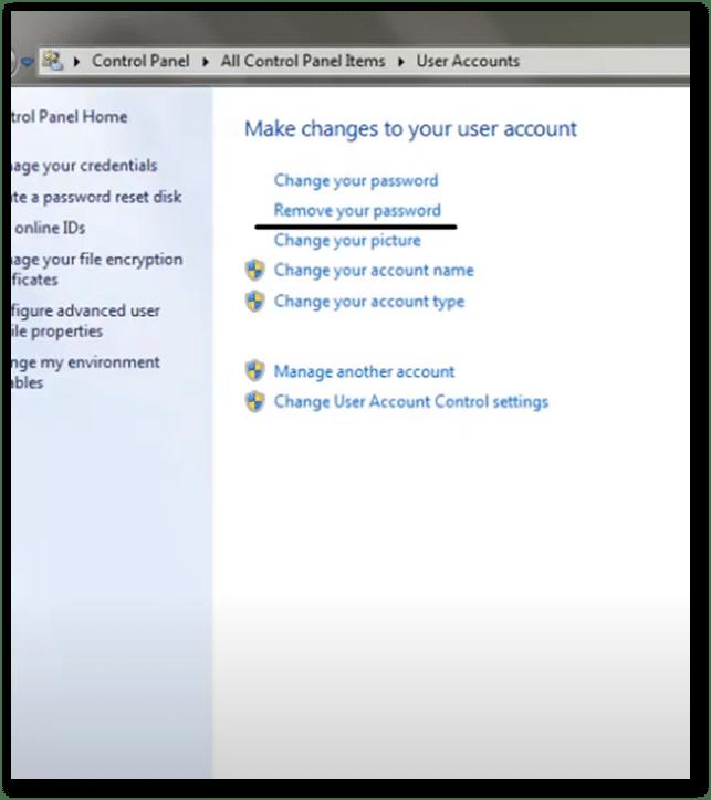 Remove password on Asus laptop