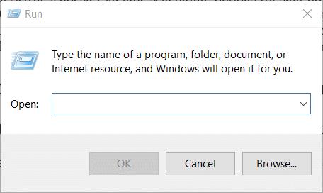 The Run accessory on Windows 10