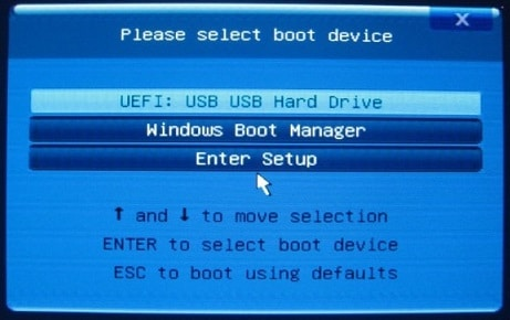 select boot device on Asus laptop