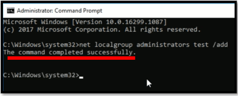 Add User to Local Administrator Group in Windows 10 from Command Line