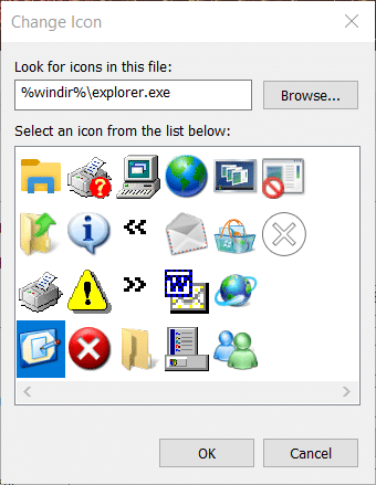 Change icon for the Show Desktop button on Windows 10