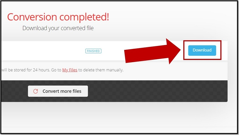 Download the converted RAR file online