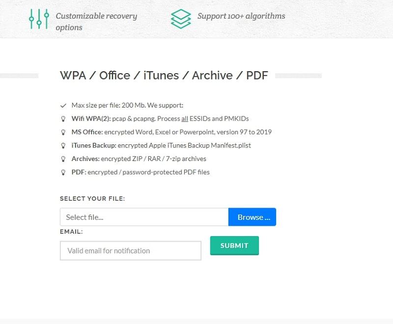 Decrypt ZIP file with Online Hash Crack